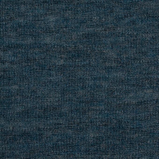 ウール&ナイロン×無地(バルビゾンブルー)×フライスニット イメージ1
