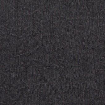 【150cmカット】シルク&ナイロン×無地(チャコールグレー)×ポプリンワッシャー