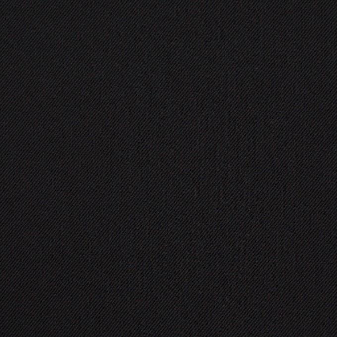 ポリエステル&ポリウレタン×無地(ブラック)×サージストレッチ イメージ1