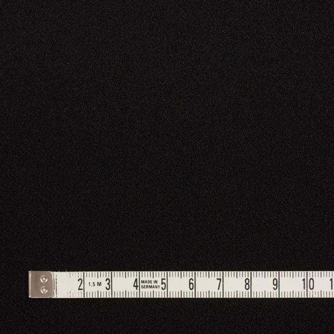 ポリエステル&アセテート×無地(ブラック)×バックサテンジョーゼット イメージ4