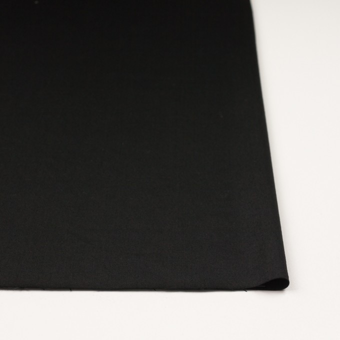 ビスコース&ナイロン混×無地(ブラック)×サージストレッチ_イタリア製 イメージ3