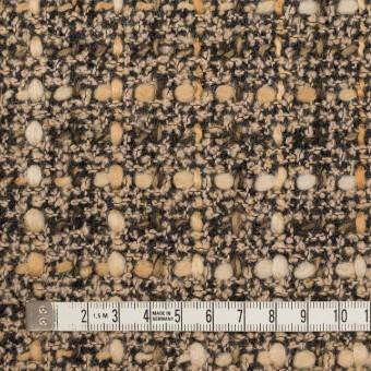 【120cmカット】ウール&ポリエステル混×ミックス(モカ)×ファンシーツイード_イタリア製 サムネイル4