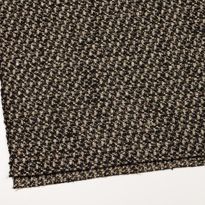 ウール&ポリエステル混×ミックス(クリーム&ブラック)×ファンシーツイード_イタリア製 イメージ2