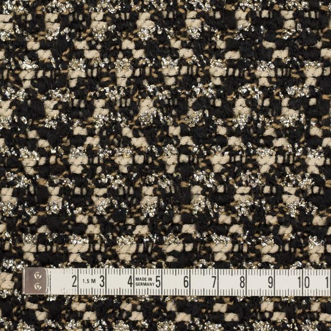 ウール&ポリエステル混×ミックス(クリーム&ブラック)×ファンシーツイード_イタリア製 イメージ4