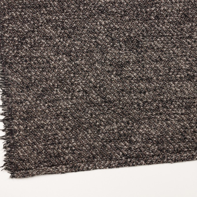 ウール&アクリル混×ミックス(ブラウン&ブラック)×ファンシーツイード_イタリア製 イメージ2