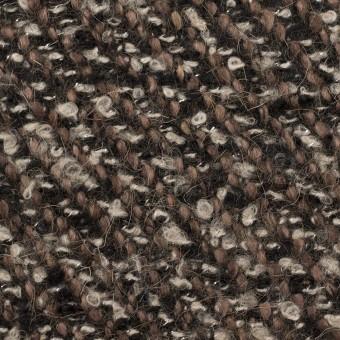 ウール&アクリル混×ミックス(ブラウン&ブラック)×ファンシーツイード_イタリア製