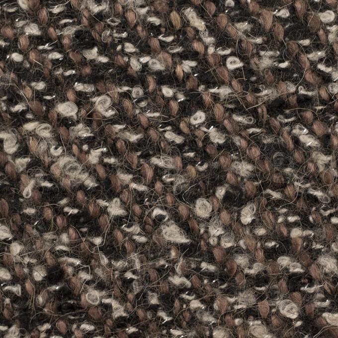 ウール&アクリル混×ミックス(ブラウン&ブラック)×ファンシーツイード_イタリア製 イメージ1