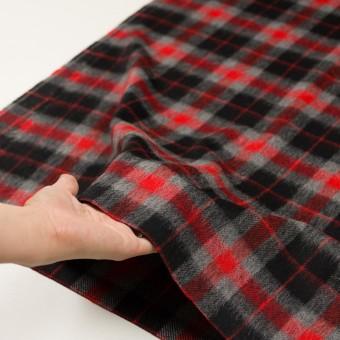 ウール&アルパカ混×チェック(レッド、グレー&ブラック)×かわり織_全2色 サムネイル5