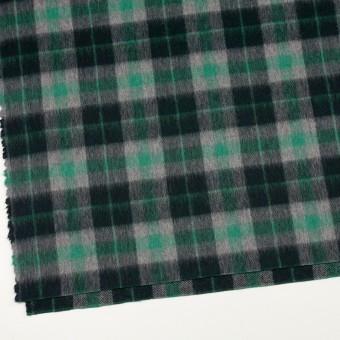 ウール&アルパカ混×チェック(グリーン、グレー&ブラック)×かわり織_全2色 サムネイル2