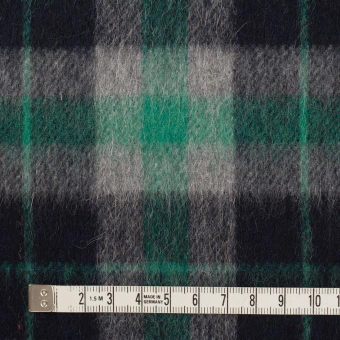 ウール&アルパカ混×チェック(グリーン、グレー&ブラック)×かわり織_全2色 イメージ4