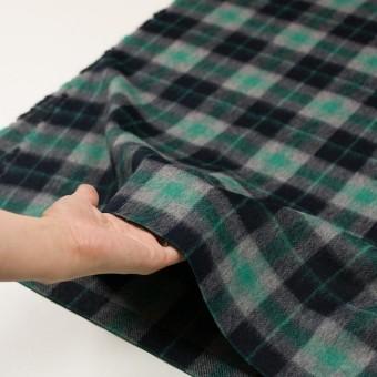 ウール&アルパカ混×チェック(グリーン、グレー&ブラック)×かわり織_全2色 サムネイル5