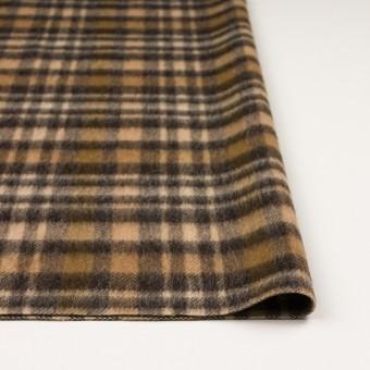 ウール&アルパカ混×チェック(ブラウン)×かわり織 サムネイル3