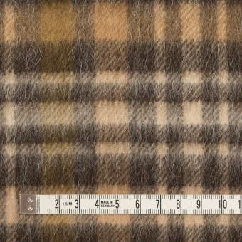ウール&アルパカ混×チェック(ブラウン)×かわり織 サムネイル4