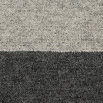 ウール&ナイロン×ボーダー(ライトグレー&チャコールグレー)×ループニット サムネイル1