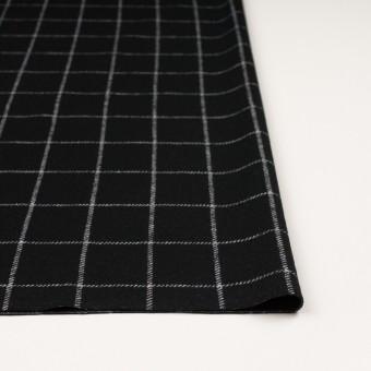 ウール&アクリル×チェック(ブラック)×Wニット サムネイル3