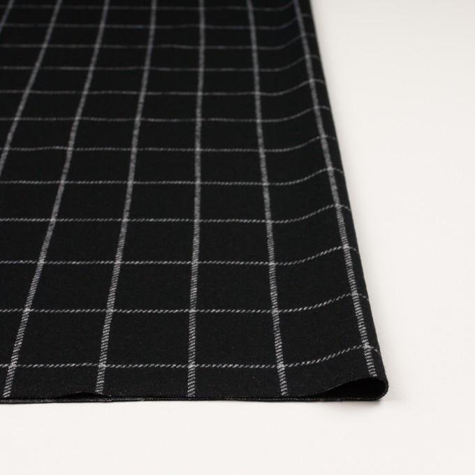 ウール&アクリル×チェック(ブラック)×Wニット イメージ3