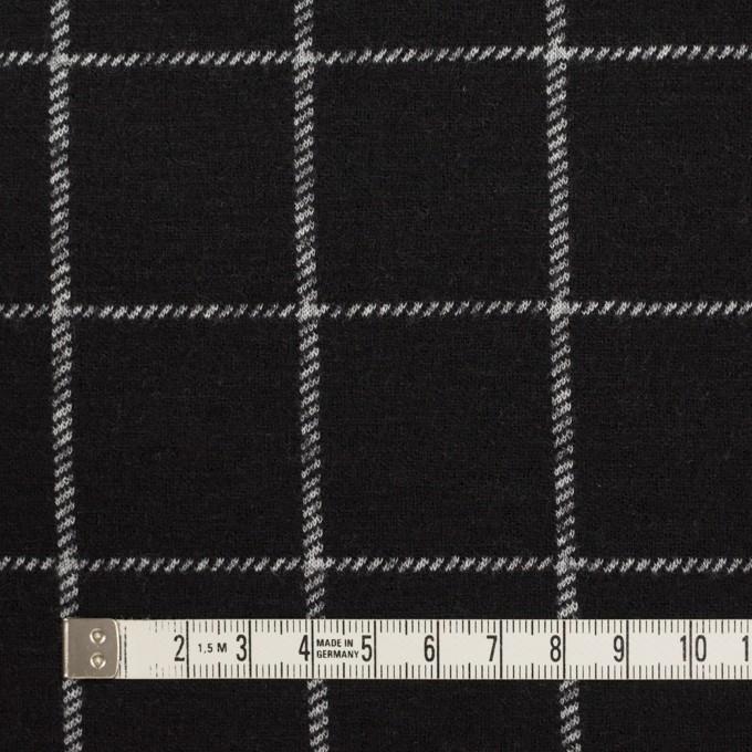 ウール&アクリル×チェック(ブラック)×Wニット イメージ4