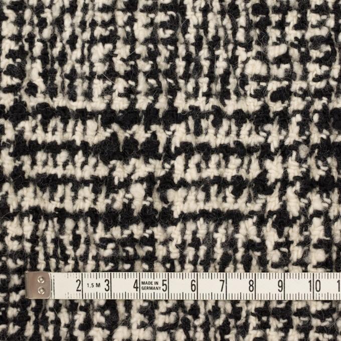 ウール&ポリウレタン×チェック(キナリ&ブラック)×ファンシーツイード_シャーリング イメージ4