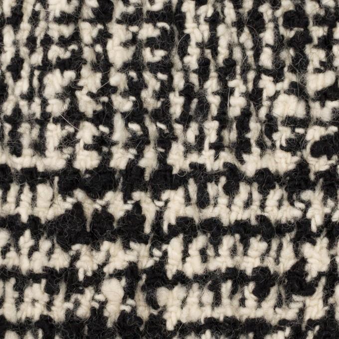 ウール&ポリウレタン×チェック(キナリ&ブラック)×ファンシーツイード_シャーリング イメージ1