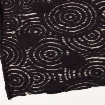 ウール&ナイロン×サークル(ブラック)×ループジャガード_全2色 サムネイル2