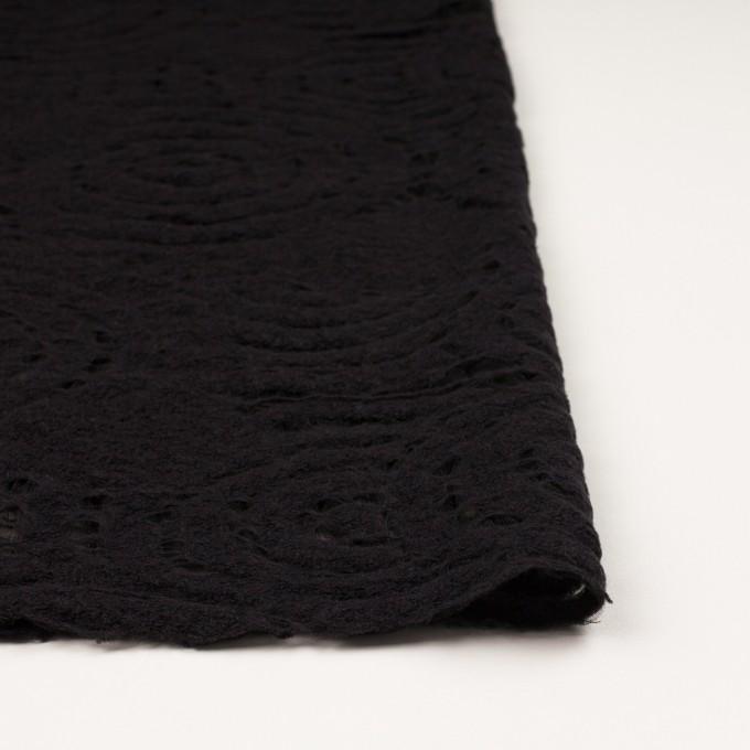 ウール&ナイロン×サークル(ブラック)×ループジャガード_全2色 イメージ3