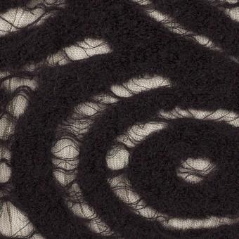 ウール&ナイロン×サークル(ブラック)×ループジャガード_全2色 サムネイル1