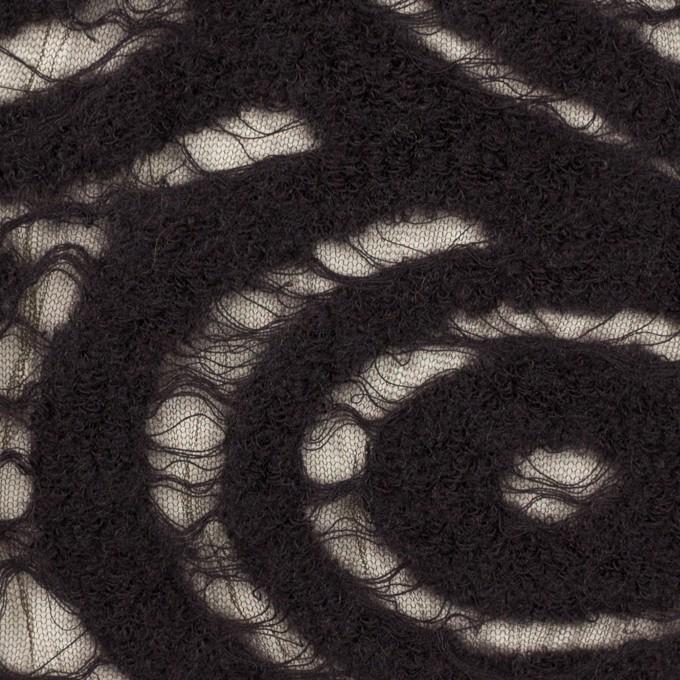 ウール&ナイロン×サークル(ブラック)×ループジャガード_全2色 イメージ1