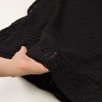 ウール&ナイロン×サークル(ブラック)×ループジャガード_全2色 サムネイル5