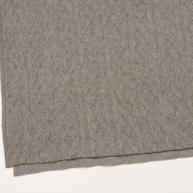ウール&ナイロン×ダイヤ(グレー)×ジャガードニット イメージ2