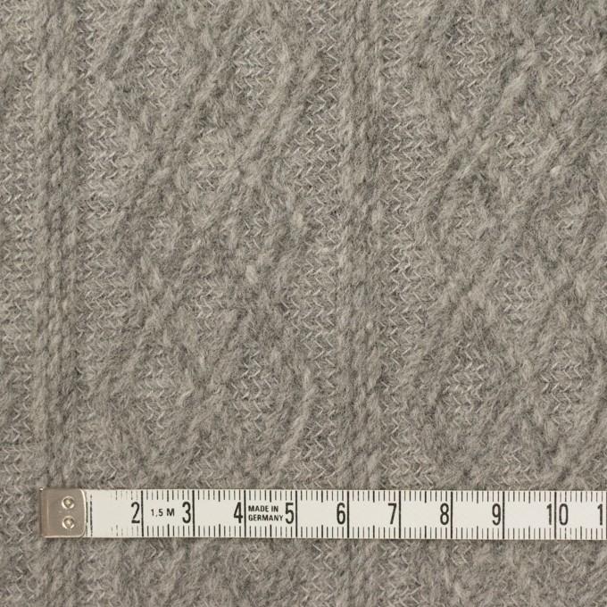 ウール&ナイロン×ダイヤ(グレー)×ジャガードニット イメージ4