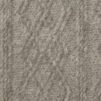 ウール&ナイロン×ダイヤ(グレー)×ジャガードニット サムネイル1