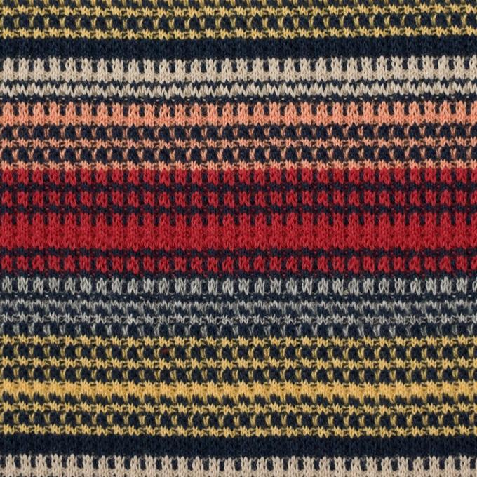 コットン×ボーダー(マルチ)×かわり編み イメージ1