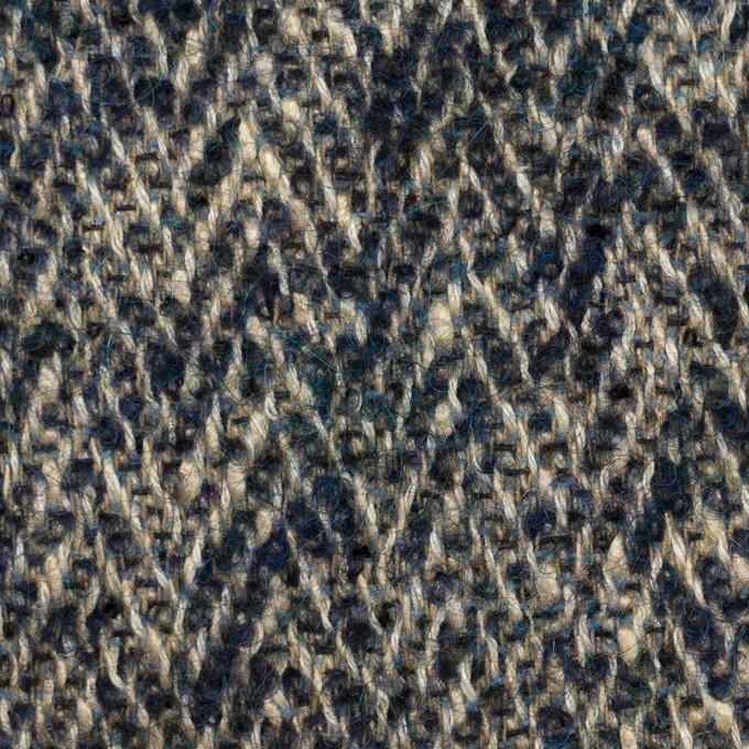 ウール&レーヨン混×ミックス(ベージュ&インクブルー)×ファンシーツイード_イタリア製 イメージ1
