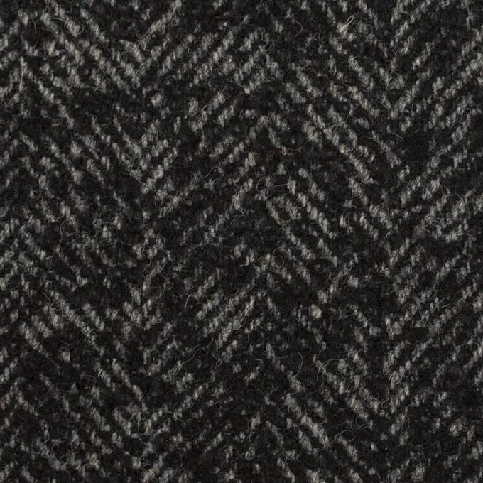 ウール&ナイロン×ミックス(チャコール)×ファンシーツイード イメージ1