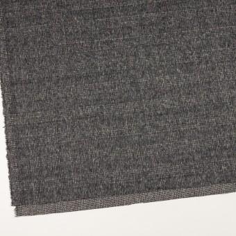 ウール×チェック(チャコールグレー)×かわり織_イタリア製 サムネイル2