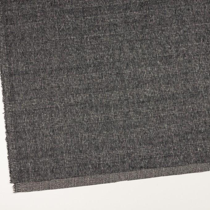 ウール×チェック(チャコールグレー)×かわり織_イタリア製 イメージ2