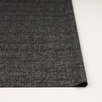 ウール×チェック(チャコールグレー)×かわり織_イタリア製 サムネイル3