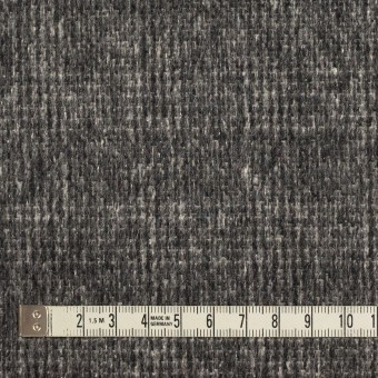 ウール×チェック(チャコールグレー)×かわり織_イタリア製 サムネイル4