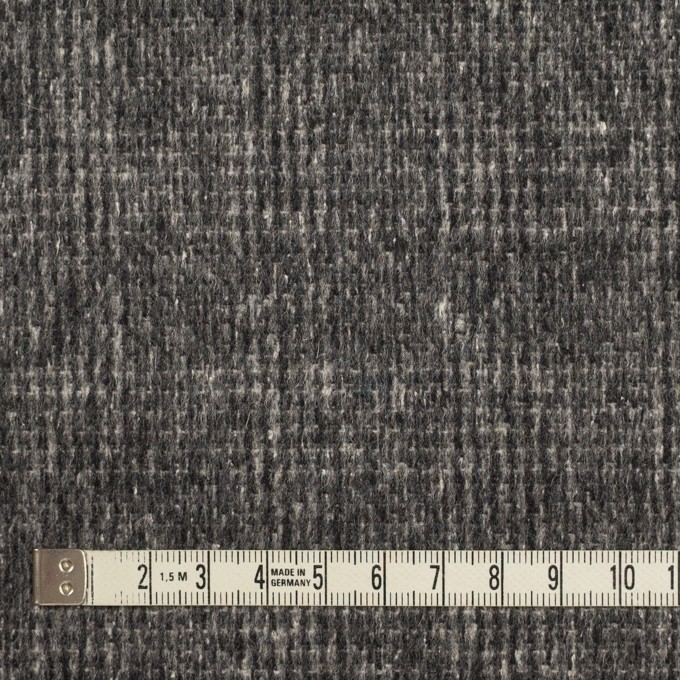 ウール×チェック(チャコールグレー)×かわり織_イタリア製 イメージ4