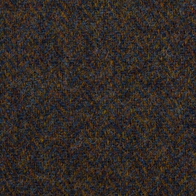 ウール×ミックス(ブラウン&ネイビー)×ツイード イメージ1