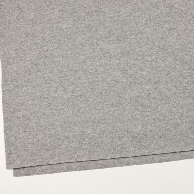ウール&ナイロン×無地(ライトグレー)×圧縮ニット イメージ2