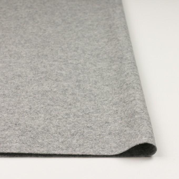 ウール&ナイロン×無地(ライトグレー)×圧縮ニット イメージ3
