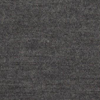 ウール&アクリル×無地(チャコールグレー)×天竺ニット