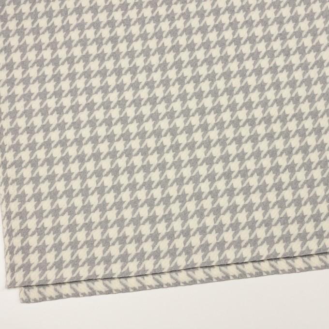 ウール×千鳥格子(アイボリー&グレー)×かわり織_全2色 イメージ2