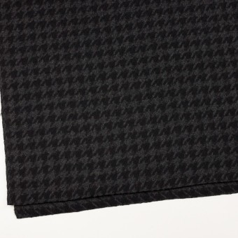 ウール×千鳥格子(チャコールグレー&ブラック)×かわり織_全2色 サムネイル2