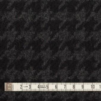 ウール×千鳥格子(チャコールグレー&ブラック)×かわり織_全2色 サムネイル4
