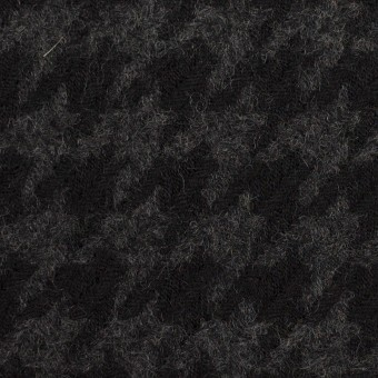 ウール×千鳥格子(チャコールグレー&ブラック)×かわり織_全2色 サムネイル1