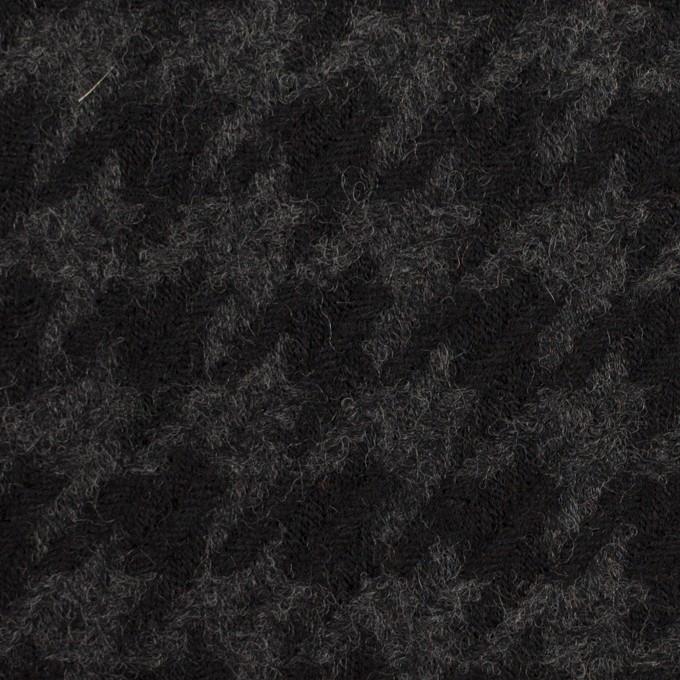 ウール×千鳥格子(チャコールグレー&ブラック)×かわり織_全2色 イメージ1