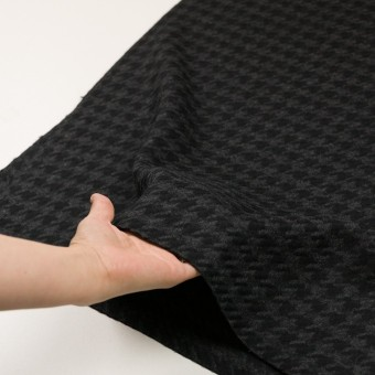 ウール×千鳥格子(チャコールグレー&ブラック)×かわり織_全2色 サムネイル5