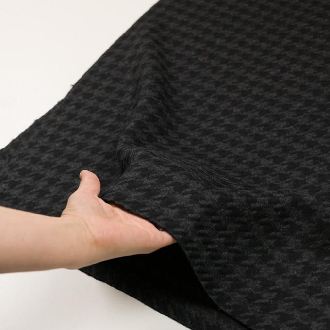 ウール×千鳥格子(チャコールグレー&ブラック)×かわり織_全2色 イメージ5